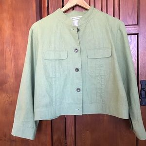 Simon Chang Green Jacket, Sz14            11-07GET